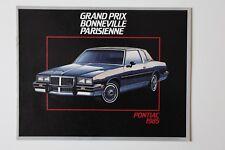 PONTIAC GRAND PRIX 1985 dealer brochure - French - Canada - ST1002001018