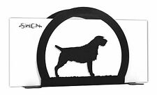 Swen Products Wirehaired Pointing Griffon Black Metal Letter Napkin Card Holder