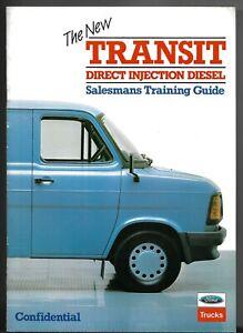Ford Transit Mk2 Direct Injection Diesel 1984-85 UK Market Salesmans Brochure