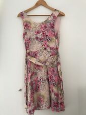 Ladies H&M Dress S 6 Pink Floral ~JJ8381