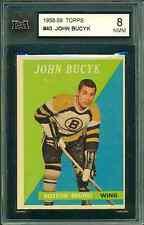 1958 59 TOPPS #40 JOHN BUCYK KSA 8 NMM