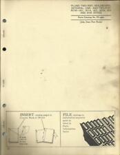 JOHN DEERE TWO WAY MOLDBOARD PLOWS PARTS CATALOG NO. 821,82A,822,822A,820,820A