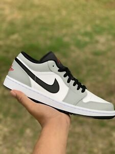 Nike Air Jordan 1 Low Light Smoke Grey Men's Size 10.5 New 553558-030