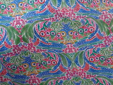 Liberty Silk Chiffon 100%, 'Megs Garden' Blue (per metre) dress fabric,