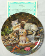 Am Seerorenteich By The Lily Pond Bradford Exchange Kitten Plate Cat 1996