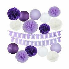 Elephant Purple Baby Shower Decorations It's A Girl Baby Shower Banner of Pur...