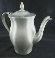 Vintage INTERNATIONAL PEWTER Coffee Tea Pot Hinged Lid ~ Marked 276 01