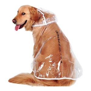 Dog Raincoat Transparent Hoodie Outdoors Jacket Big Sized Golden Retriever Kit