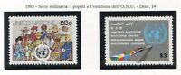 19182) UNITED NATIONS (New York) 1985 MNH** Definitives