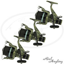 3 Carp Fishing Reels Bait Free Runner Commando 60 & Spare Spool Lineaeffe Tackle