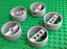 NEW / LEGO / 5 Grey Technic Parts / Round Wheel / W-Center Hole / 5X