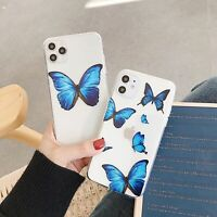 Phone Case Clean Butterfly Soft TPU Cover For iPhone 11 Pro Max X XR Xs 8 7 Plus