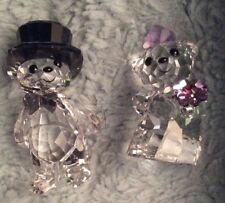 "Swarovski Crystal Kris Bear You & I ""Bride and Groom"" A9400NR000063 Ex Con Boxed"