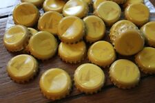 100 PYRAMID BREWERY BEER BOTTLE CAPS YELLOW DENTS FREE FAST SHPNG