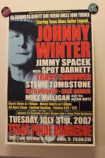 JOHNNY WINTER San Antonio TEXAS (2007) Concert Poster BLUES Uncle John Turner