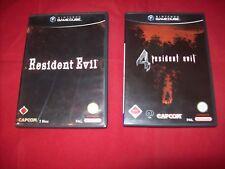 Resident Evil + Resident Evil 4 (Nintendo GameCube, 2002, DVD-Box)  GUT -- USK18