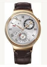 (New, Sealed) Huawei - Smartwatch 42mm Stainless Steel Leather - Gold