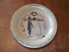 """Home & Garden Party USA 2001 Marriage """"And Two Hearts Shall Beat As One"""" Plate"""