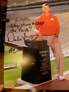 Signed 8x10 of Dabo Swinney Clemson Football Coach
