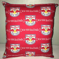 RedBulls Pillow New York Red Bulls Pillow NY RedBull MLS Handmade in USA Pillow