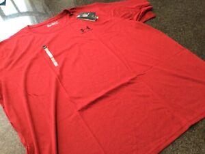 NWT - Mens UNDER ARMOUR HeatGear Burgundy Short Sleeve Shirt (5XL)