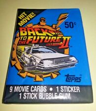 Topps 1989 Back to the Future part 2 wax pack of bubble gum trading cards