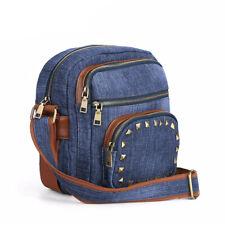Fashion Denim Women's Messenger Bags Jeans Shoulder Bags Women Purse with Rivets
