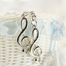 Creative Design Silver Plated Musical Note Keychain For Car Cellphone Purse