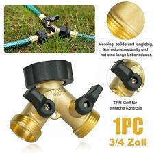 2 Way Brass Hose Pipe Valve Splitter Quick Connector Adaptor Y-shaped Garden Tap