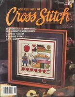 For The Love Of Cross Stitch Magazine Nov 1995 Silk Ribbon Embroidery USA Map