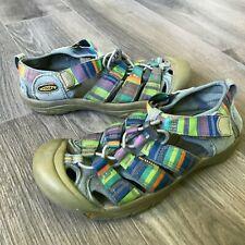 Keen Sport Sandals Water Shoes Purple Green Orange Stripe Size 4 US Youth