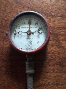 "American Radiator Company Pressure Gauge 1910 Red 4"" STEAMPUNK"