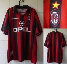 1997-1998 AC Milan Short Sleeve Lotto Home Football Shirt Extra Large