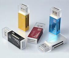 LECTEUR READER ADAPTATEUR USB MULTI CARTE MEMOIRE SD/SDHC/MMC/MICRO SD/MS 48H