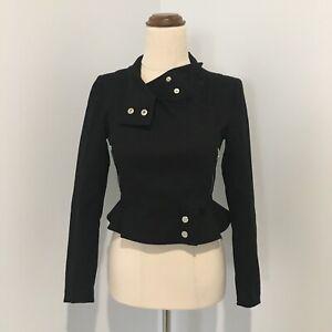 Oxford Woman Biker Style Jacket Size 6 Black