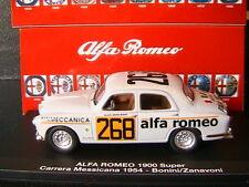 ALFA ROMEO 1900 SUPER #268 BONINI ZANAVONI CARRERA MESSICANA 1964 M4 7139 1/43