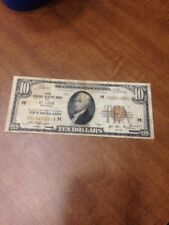 Ten 10 Dollar Bill National Currency Note 1929 St. Louis