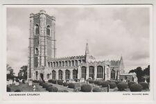 Suffolk postcard - Lavenham Church - RP