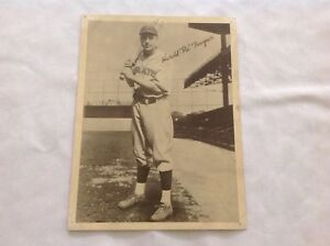 "Harold ""Pie"" Traynor Pittsburgh Pirates Vintage 1930's Photo"