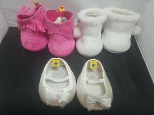 Build A Bear Workshop BABW Lot Of 3 Pairs Of Shoes
