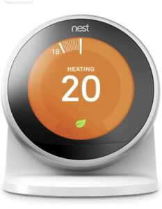 Nest 3rd Gen (latest) Learning Thermostat with Stand, Smart Heating, Wi-Fi