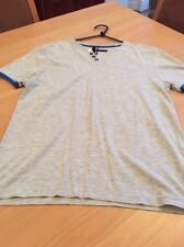 boys clothes 13-14 years Flipback Grey Cotton V Neck Short Sleeved Top