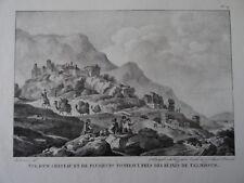 CHOISEUL-GOUFFIER (1752-1817) LITHO TELMESSOS GRECE TURQUIE TURKEY LYCIE 1820