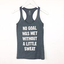 "Body Rags Women's Size Xs ""No Goal Was Met� Racerback Workout Muscle Tee"