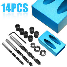 1 set Pocket Hole Screw Jig with Dowel Drill Set Carpenters Wood Joint Tool Kit