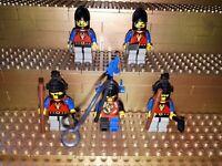 5 Lego Classic Castle Dragon Knights Ritter  Figuren König Minifig Waffen R25