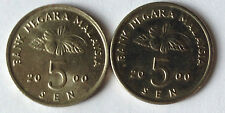 Second Series 5 sen coin 2000 2 pcs
