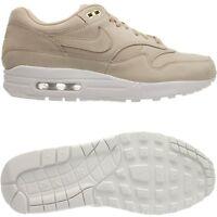 Nike Air Max 1 PRM Damen low-top Sneakers beige/weiß Freizeitschuhe Wildleder