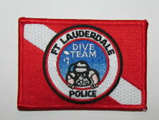 Florida State Fort Lauderdale Police SCUBA Underwater Dive Team Patch PADI FLAG