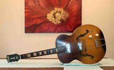 Vintage Harmony Hollywood Electric Acoustic Guitar ~ A Restoration Project